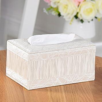 CLG-FLY de cuero simple tejido caja-estilo salón de madera maciza servilleta ideas