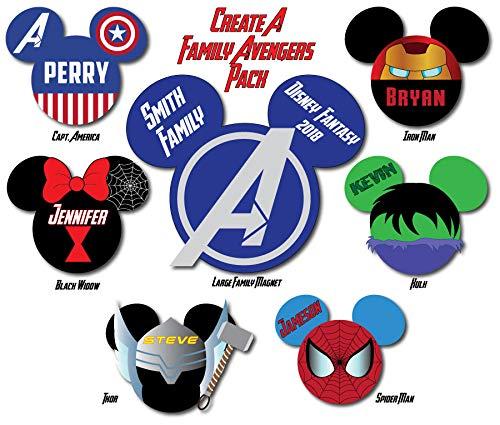 (AVENGERS Disney Cruise Magnets for Door)