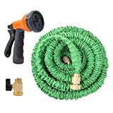 Speedcontrol 50 Feet Flexible Collapsible Garden Hose Water Hose with Brass Connector and Spray Nozzle