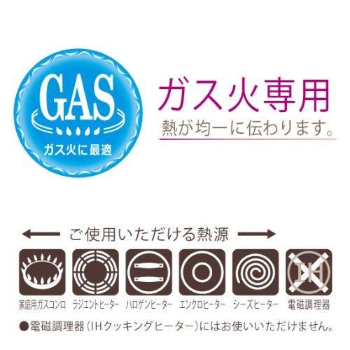 【GAS】キャストスタイルライトフライパン 信頼のテフロン・プラチナ加工 耐久性抜群 金属ヘラが使える