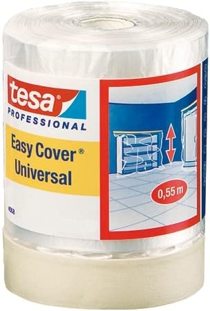 TESA 04368-00009-02 - Cinta para pintar en interior en grandes areas Easy Cover Universal serie 4368-33m x 1400mm
