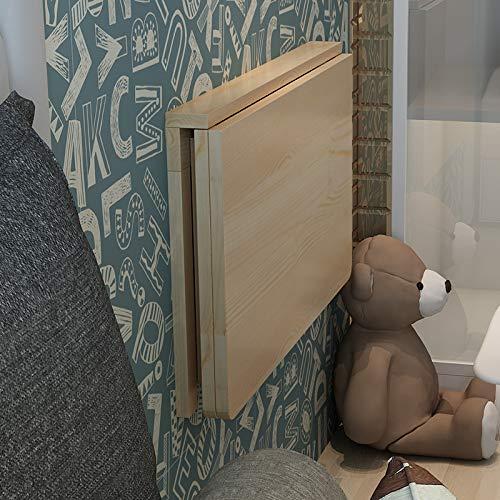 ADLOASHLOU fällbart väggbord massivt trä-väggbord matbord vikbar dator-skrivbord inlärning fällbord liten trävägg fäst fällbord bord bord simdocka 31,5 x 23,6 tum