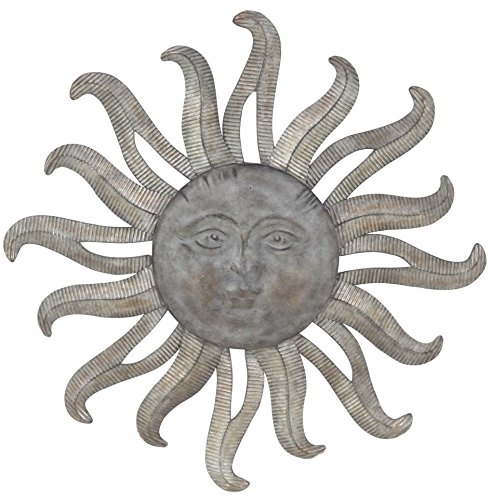 Large Metal Sun Wall Decor Galvanized Garden Wall Art For Sale