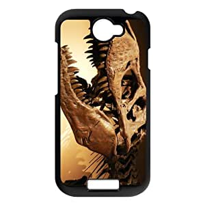General personality phone case, Dinosaur Running Pattern black plastic case For HTC ONE S at Run horse store