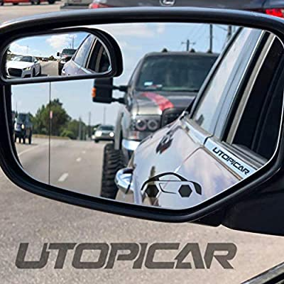 Utopicar Blind Spot Mirrors – Updated Design - Car Mirror for Blind Side - Door Mirrors for Large Image [Adjustable] (2 Pack): Automotive