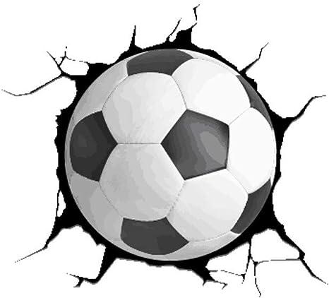 Hink Pegatinas 3D para Pared con diseño de balón de fútbol Roto y ...