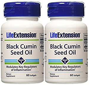 Life Extension Black Cumin Seed Oil, 60 softgels (120 count)