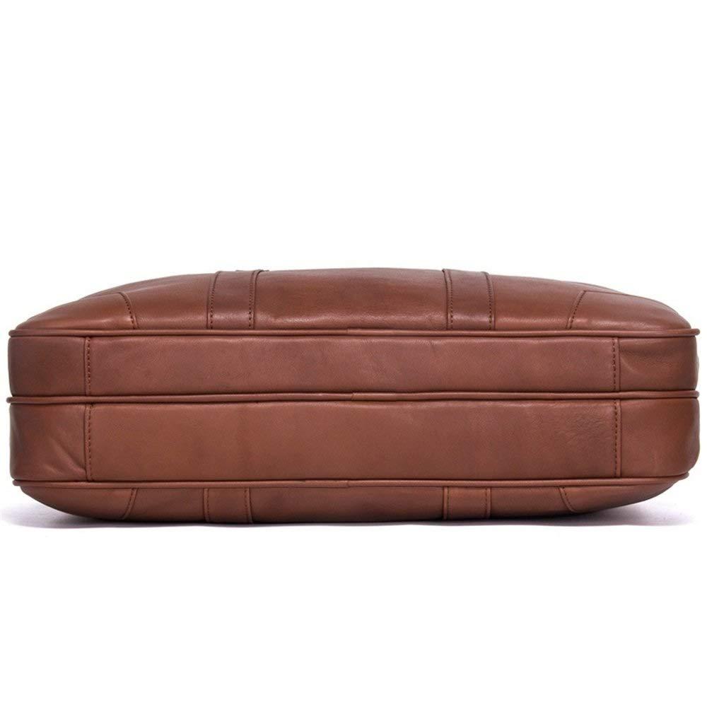 MXYBX Mens Leather Briefcase Bag Messenger Shoulder Satchel Casual Tote Crossbody