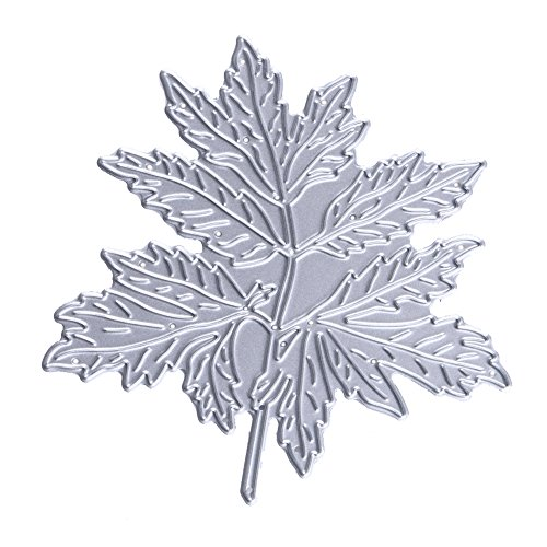 (Chinatera Maple Leaf Cutting Dies Metal Stencils for DIY Scrapbooking Card Handmade Paper Craft Christmas Decoration(Maple)