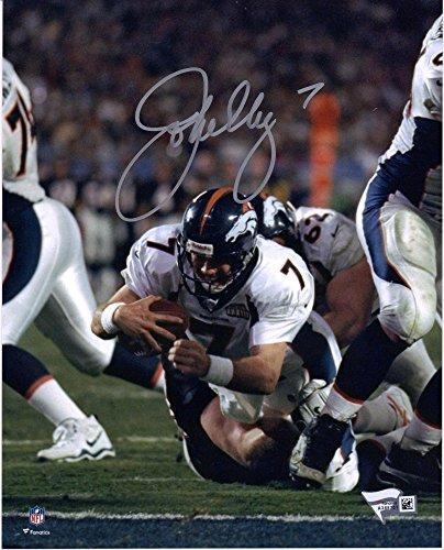 """John Elway Denver Broncos Autographed 8"""" x 10"""" White Diving Photograph - Fanatics Authentic Certified"""