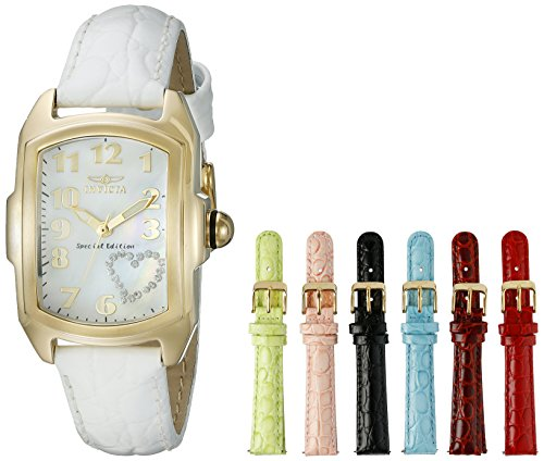 Invicta Women's 0052 Lupah Analog Display Swiss Quartz White Watch