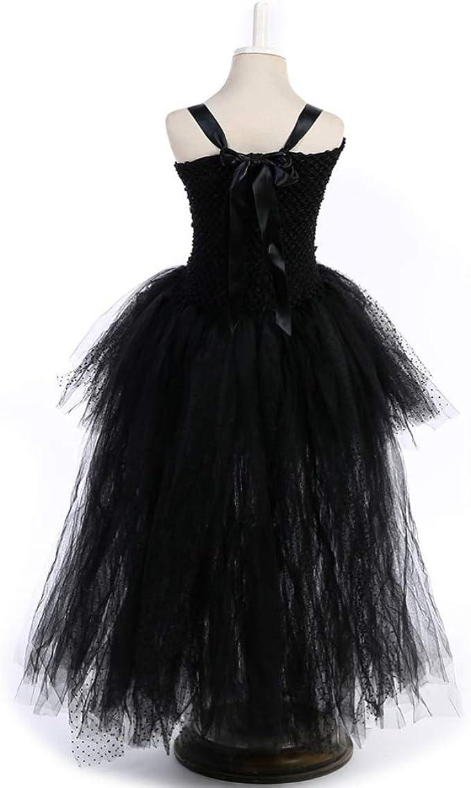 Happyyami vestido de disfraz de angelito del diablo negro disfraz ...
