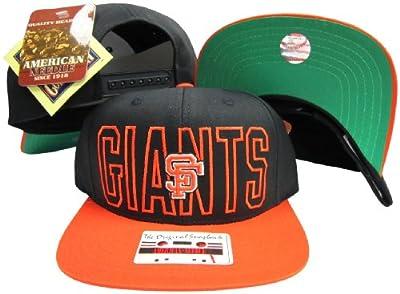 San Francisco Giants Black/Orange Two Tone Plastic Snapback Adjustable Snap Back Hat/Cap