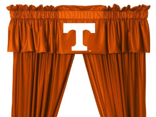 Set of 2 (Two) Tennessee Volunteers 5 Pc Valance/Drape Set (Tennessee Vols Drape)