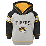 "NCAA by Outerstuff NCAA Missouri Tigers Kids ""Classic Stripe"" French Terry Hoodie, Heather Grey, Kids Small(4)"
