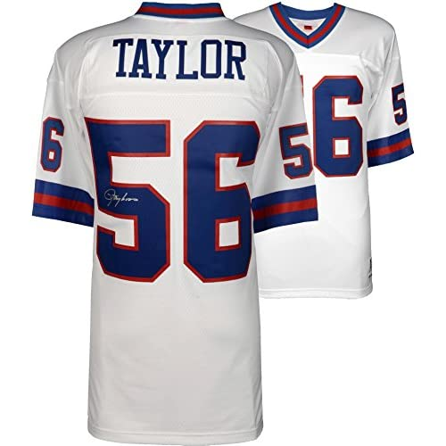 super popular 12553 dee6e Lawrence Taylor New York Giants Autographed White Mitchell ...