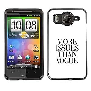 TopCaseStore / la caja del caucho duro de la cubierta de protección de la piel - Magazine Qutoe Black White Trouble Life - HTC G10