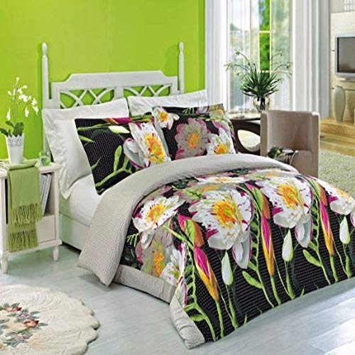 Athens 4pc King / Cal-King Comforter Set 100 % Cotton 300 Thread Count by Royal Hotel