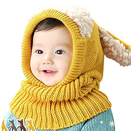 aa51aa86e0f Amazon.com   Yichener 28 Styles Kids Winter Hats Girls Boys Children Crochet  Warm Caps Scarf Set Baby Bonnet Enfant Cartton Cute Hat for Girl Boy    Sports   ...