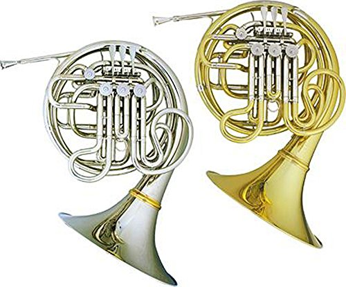 Hans Hoyer Heritage 6801 Bb/F Double French Horn Detachable Bell Nickel by Hans Hoyer
