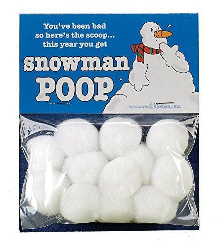 Snowman Poop Holiday Christmas Gag Gift by Roman Inc.