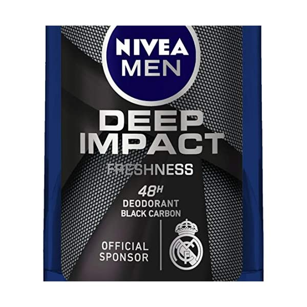 NIVEA Men Deodorant Roll On, Deep Impact Freshness, 48 h Anti Perspirant Freshness, 50 ml 2021 July Thanks to its woody masculine fragrance, this rollon keeps you prepared to make a deep impact in your every move Its antibacterial formula effectively helps tackle body odour Skin compatibility dermatologically approved