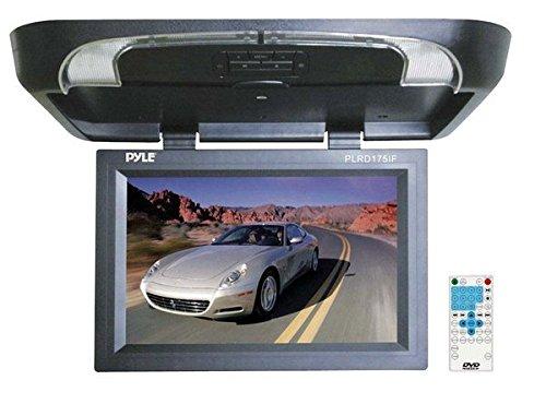PYLE PLRD175IF 17'' Flip Down Monitor w/ Built in DVD/ SD/ USB Player w/ Wireless FM Modulator & IR Transmitter