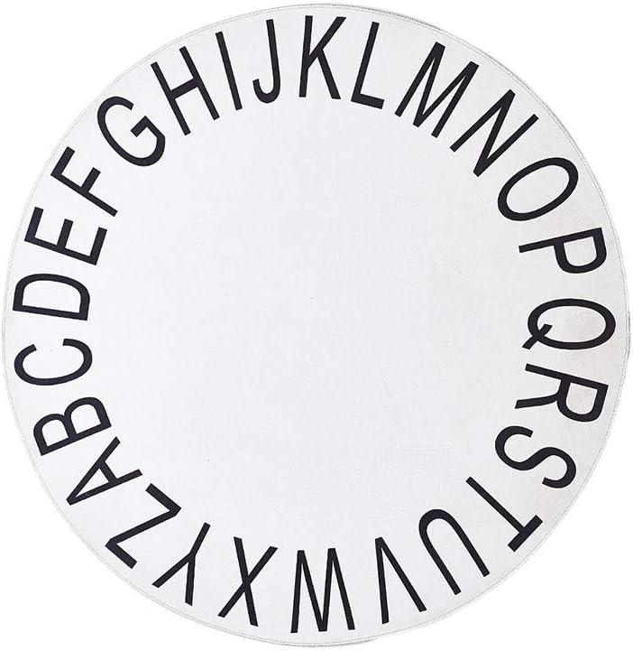 per gioco per bambini e dormire tappetino per gattonare Kgjsdf Tappeto rotondo antiscivolo con alfabeto ABC tappeto per bambini ginocchiere decorazioni per stanze colore rosa 47 pollici