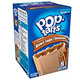 Pop-Tarts Breakfast Toaster Pastries, Frosted Brown Sugar Cinnamon Flavored, Bulk Size, 96 Count (Pack of 12, 14 oz Boxes)