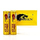 2 Imren 18650 3500MAH 15/30A FT IMR 3.7V authentic original flat top high drain battery batteries by V Force