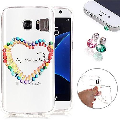 Galaxy S7 Case, Pershoo S7 Case [Anti-Scratch][Flash Function] Ultra Slim Clear Bling Crystal Diamond Skin Case Sales