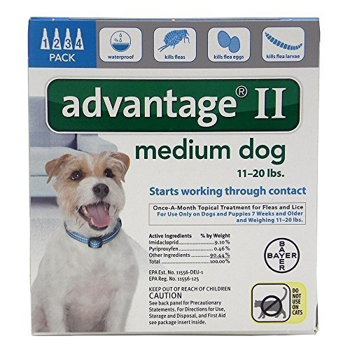 Advantage II for Dogs 11-20 lbs - (4 month supply) by Bayer Animal Health