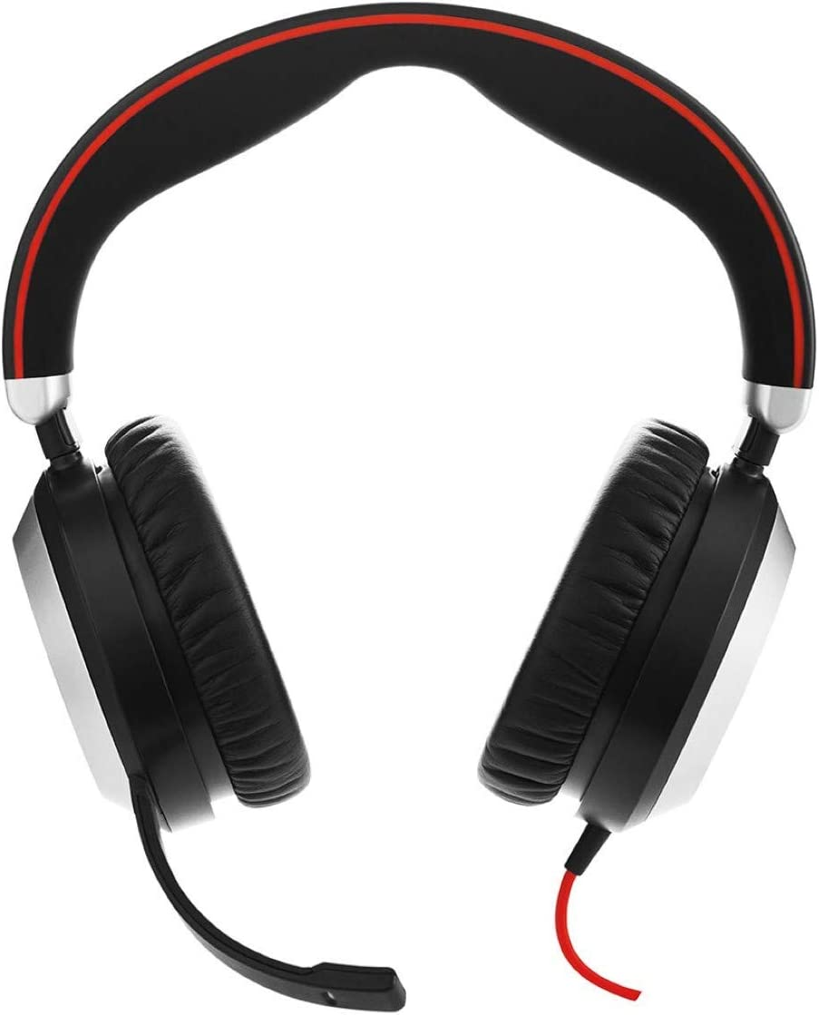 Amazon Com Jabra Evolve 80 Ms Wired Headset Professional Telephone Headphones With Unrivalled Noise Cancellation For Calls And Music Features World Class Speakers And All Day Comfort