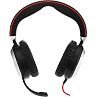 Jabra 7899-829-209 Evolve 80 Professional Stereo Noise Cancelling Wired UC Headset, Black