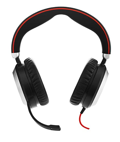 823bd0ded77 Amazon.com: Jabra Evolve 80 - Professional Stereo Noise Cancelling Wired  Headset/Music Headphones - UC: Cell Phones & Accessories