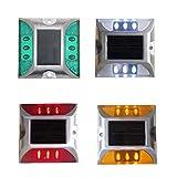 YESHIN Solar Raised Pavement Marker High Brightness IP68 Waterproof Solar Powered Reflector Road Outliner Solar Blinker Light for Anti-diecast Aluminum Protruding Signs Safety Warning