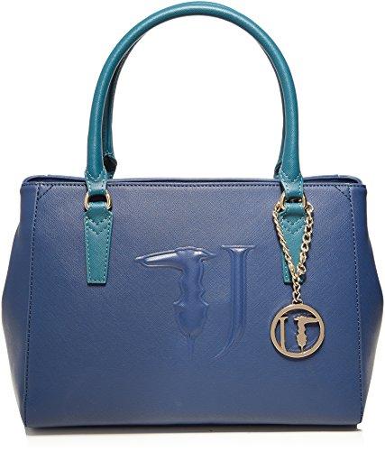 Trussardi Jeans Ischia, Borsa a Mano Donna, Blu (Blue Green), 35x40x16 cm