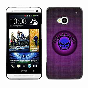 Planetar® ( Blue Tribal Skull ) Fundas Cover Cubre Hard Case Cover HTC One (M7)
