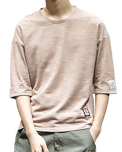 Semida Tシャツ メンズ Tシャツ 七分袖 五分袖 吸汗速乾 汗染み防止 夏 Tシャツ ファッション カジュアル カットソー 夏季対応 S011