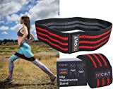FitCult Hip Resistance Band: Nonslip, Fabric, Thigh, Hip & Booty Elastic Exercise Band for Women & Men, Booty Band, Glute Band, Cloth Resistance Band (Large)