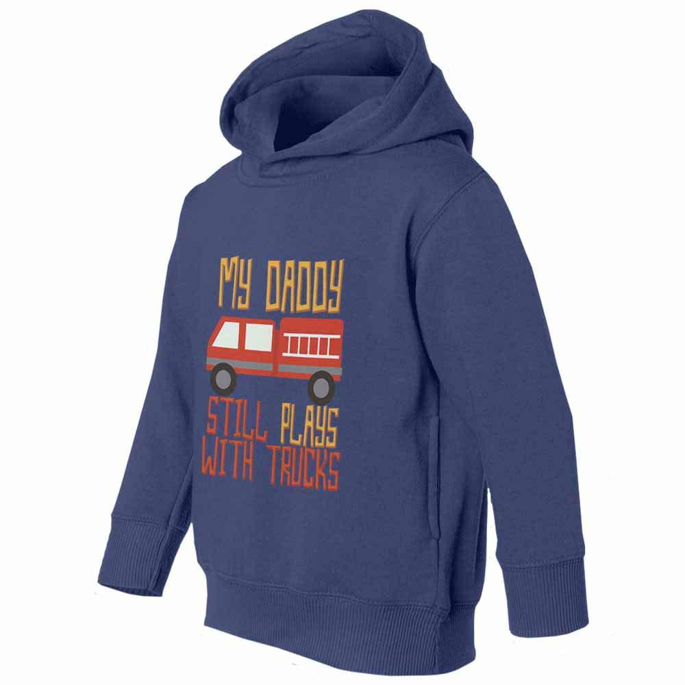 Societee Firefighter My Daddy Plays Trucks Youth /& Toddler Hoodie Sweatshirt