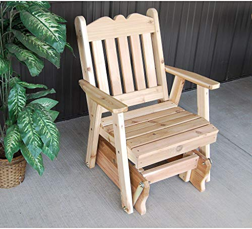 (A & L Furniture Co. Western Red Cedar Royal English Glider Chair - Ships Free in 5-7 Business Days )