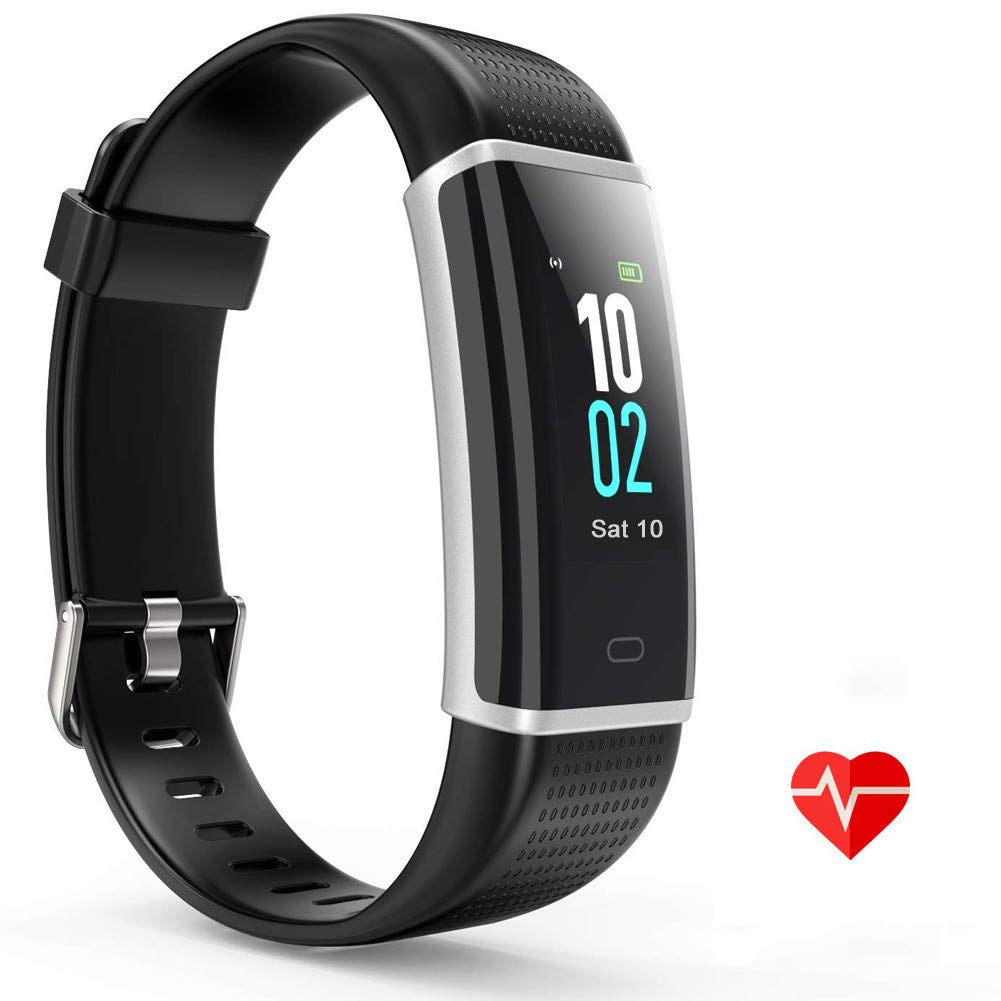 ZURURU Fitness Watch HR, Step Counter and Pedometer for Walking with Heart Rate Monitor, Waterproof Fitness Tracker for Fitbit Men, Women and Kids Bit Gift by ZURURU