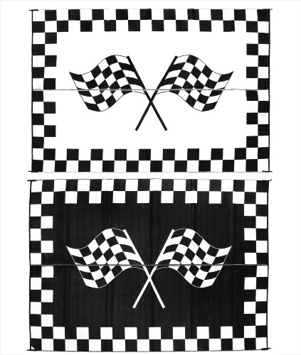 Reversible Patio Mat Racing - Ming's Mark RF-9121 9-Feet X 12-Feet Racing Flag Mat