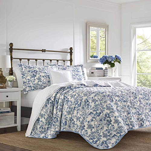 Laura Ashley Aimee Quilt Set Fullqueen Blue