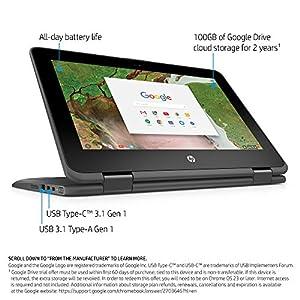 HP 11-ae010nr Chromebook 4GB RAM, 16GB eMMC with Chrome OS