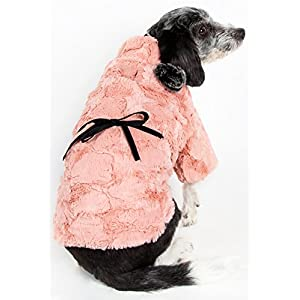 PET LIFE 'Pink-Mink' Luxury Designer Winter Pet Dog Coat Jacket Sweater, Medium, Pink