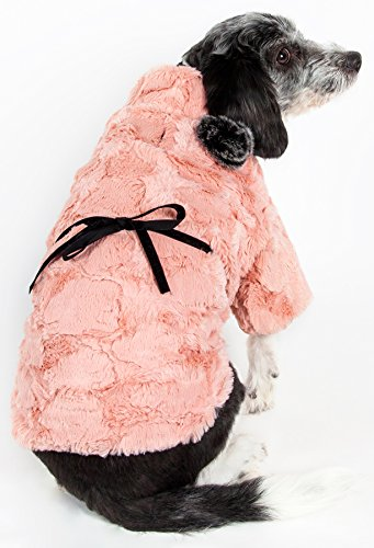 (PET LIFE 'Pink-Mink' Luxury Designer Winter Pet Dog Coat Jacket Sweater, X-Small, Pink )