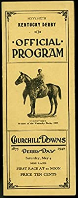 Kentucky Derby Official Program May 4 1940- Churchill Downs Horse Racing
