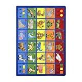 Joy Carpets Kid Essentials Early Childhood Animal Phonics Rug, Multicolored, 7'8'' x 10'9''